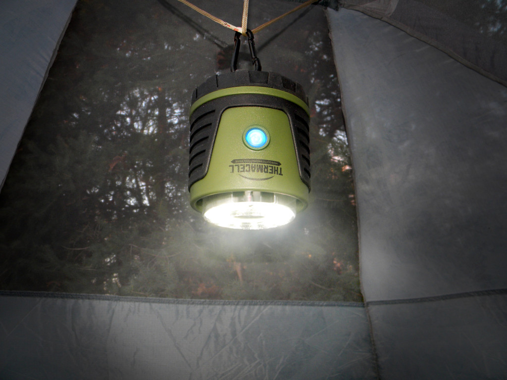 The ability to separate the Thermacell Repellent Camp Lantern makes the unit a versatile tool across multiple camping environments.